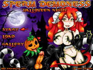 Sperm Demoness Halloween Night hentai game